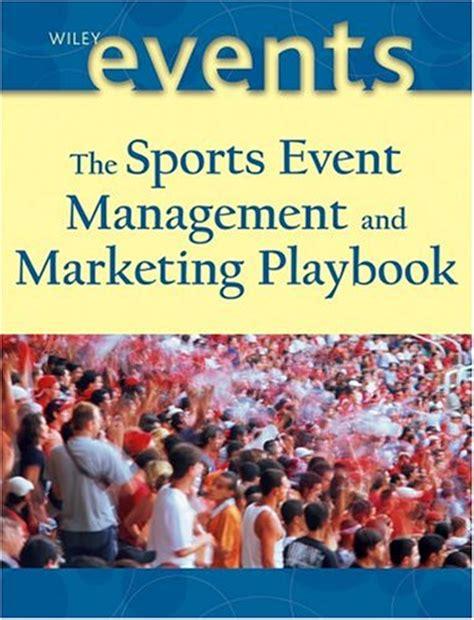 sports event management  marketing playbook