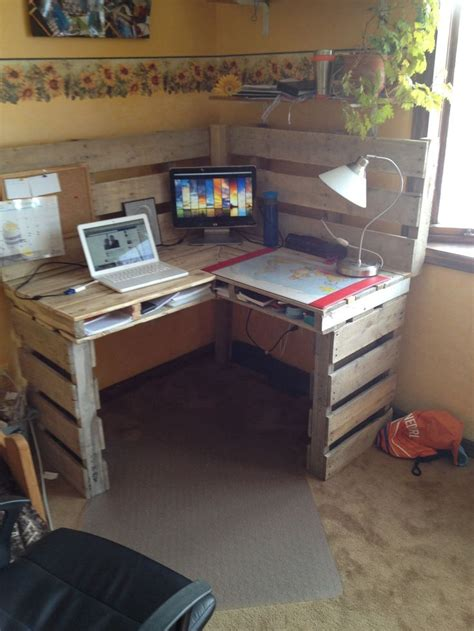 wooden corner computer desk great diy pallet farm table desk