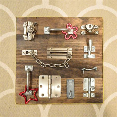 Cabinet Locks Baby 35 Cool And Easy Diy Busy Boards For Toddlers Shelterness