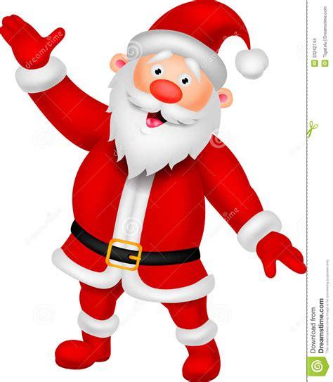 animated waving santa happy santa waving stock images image 33242744