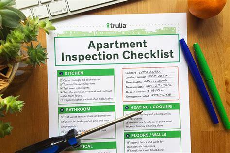Apartment Checklist Inspection Trulia S Apartment Checklist For Rental Inspections Real