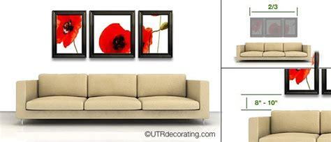 10 ways to fill the space above your sofa sofa easy tips to hang pictures above your sofa exactly