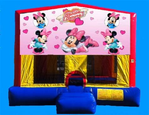 Minnie Mouse Bounce House by Brincabrinca Jumper Rental Rent Jumpers Bounce