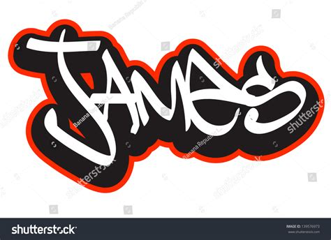 name style design graffiti font style name hiphop stock vector