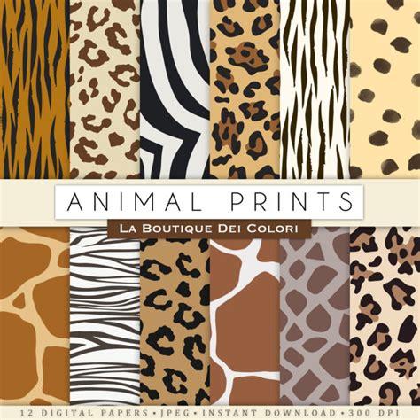 printable animal skin paper animal prints digital paper safari scrapbook paper pack