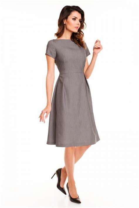 vestidos de manga corta vestido elegante mujer manga corta tejido color gris