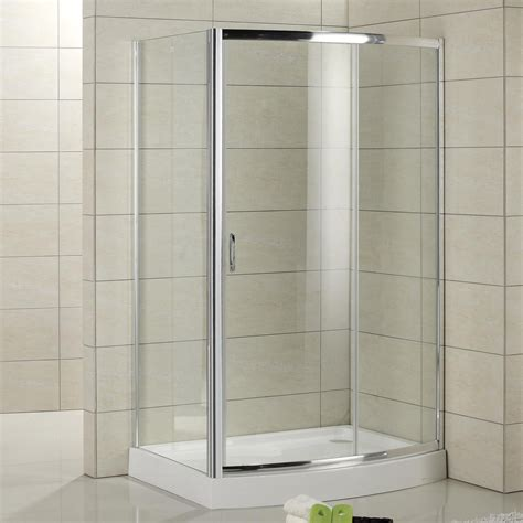 Bathroom Showers 59 Quot X 30 Quot Cristina Corner Shower Enclosure With Arched Front Bathroom