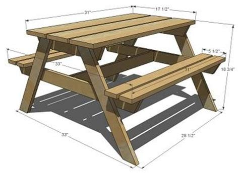 kids picnic bench plans ana white build a preschool picnic table free and easy