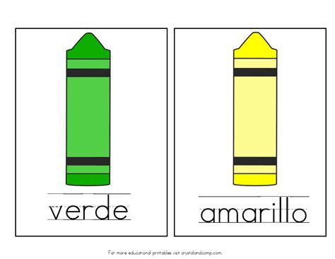 spanish for yellow teach colors to kids in spanish