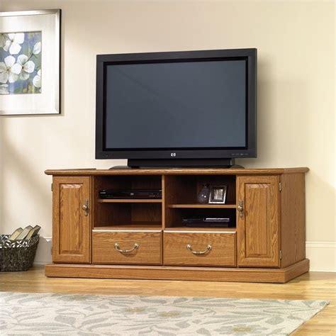 sauder carolina oak finish wood tv stand ebay