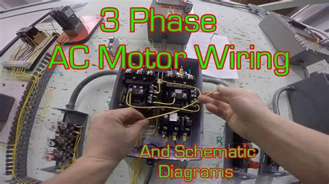 phase magnetic motor starter  wire diagram youtube