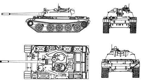 t 55 main battle tank technical data sheet specifications