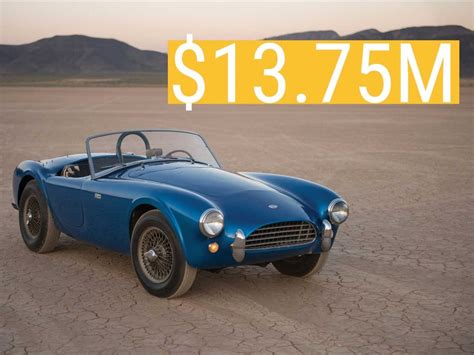 The Most Expensive Car Made by This Shelby Cobra Just Made History As The Most Expensive