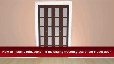 how to install closet door how to install renin s 5 lite bifold sliding closet door