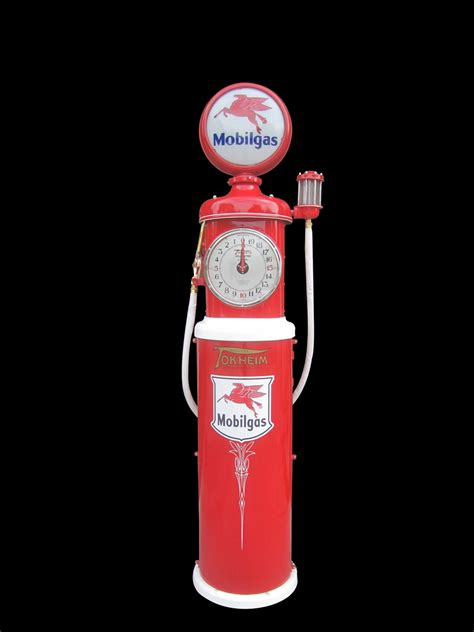 tokheim model  clock face gas pump restored  mobil