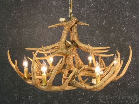 How To Make A Deer Horn Chandelier Whitetail Deer 12 Antler Chandelier Cast Horn Designs