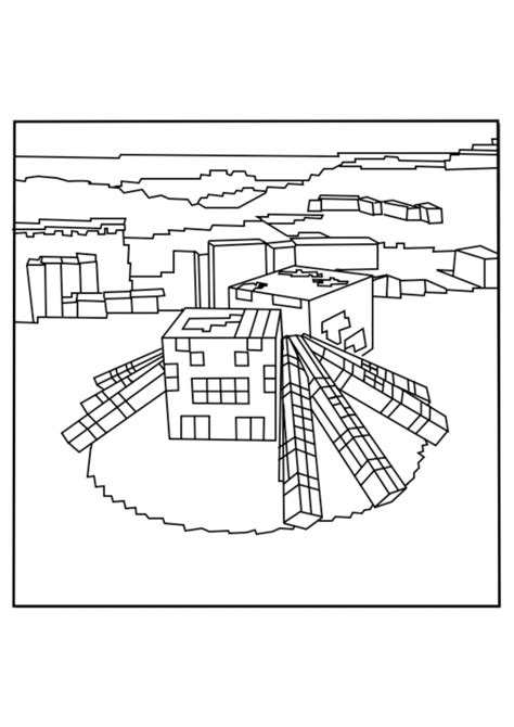 minecraft coloring pages cave spider 40 printable minecraft coloring pages