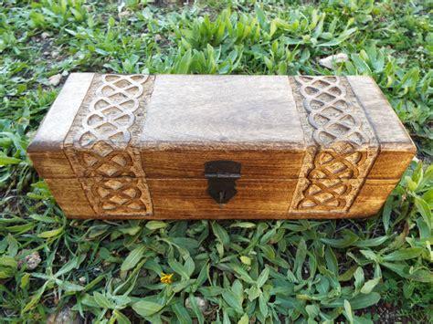 Eco Friendly Home Decor Box Wooden Celtic Knot Mango Tree Jewelry Handmade Symbol