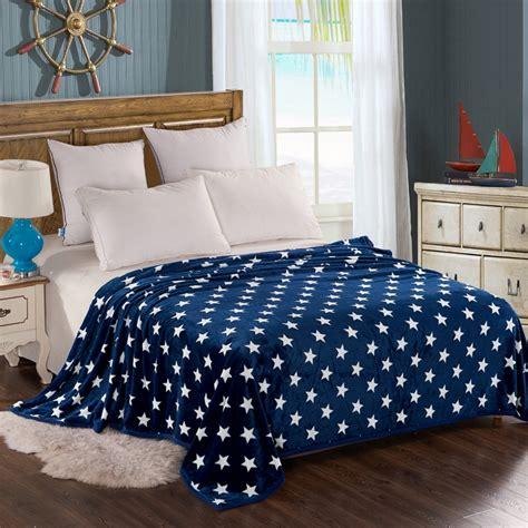 nordic scandinavian style bright stars blanket blue