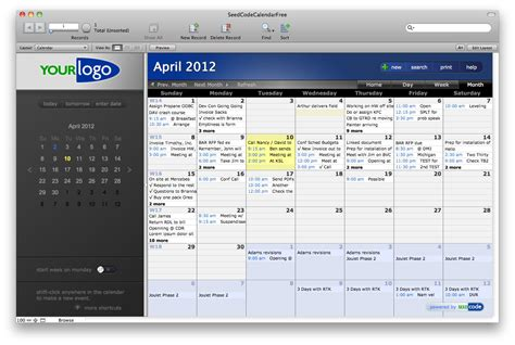 filemaker pro 12 templates filemaker calendar template calendar template 2016
