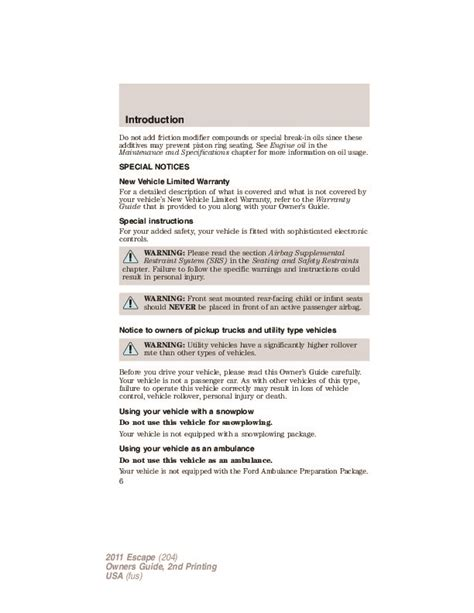 service manual car repair manuals download 2011 ford escape parking system service manual