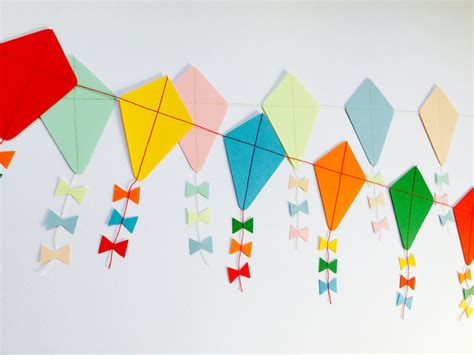 let s go fly a kite paper kite garland