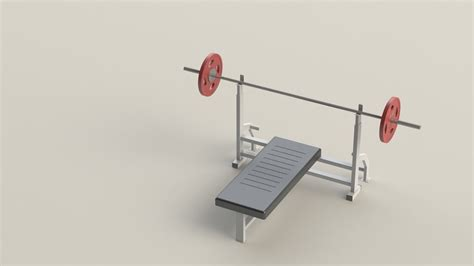 chest press bench press chest press bench press barbell gym 3d model sldprt sldasm slddrw cgtrader com