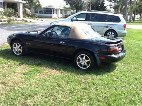 mazda convertible black buy used mazda miata mx5 convertible black with spoiler