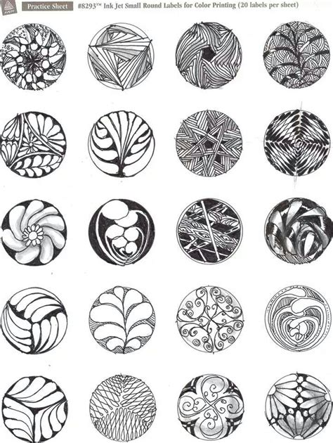 zentangle patterns tangle patterns scrolled feather 152 best images about zantangle circle designs on