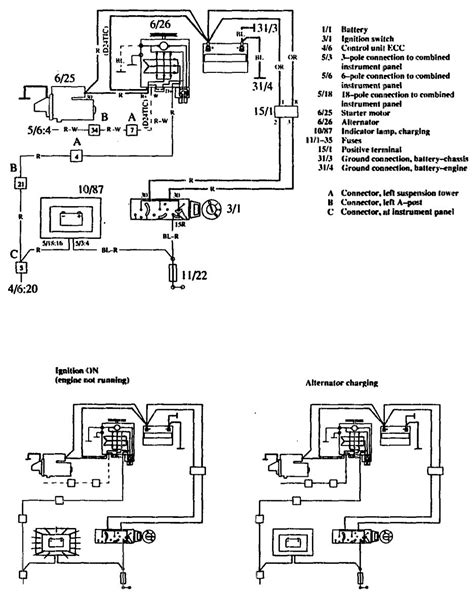 charging system wiring diagram volvo 760 1990 wiring diagrams charging system