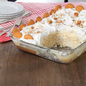 bananen pudding kuchen banana pudding poke cake taste of the south