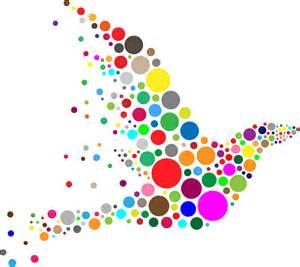 colorful circles clipart colorful circle bird