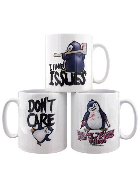 Pinguin Set psycho penguin mugs set of 3 white mug set ebay