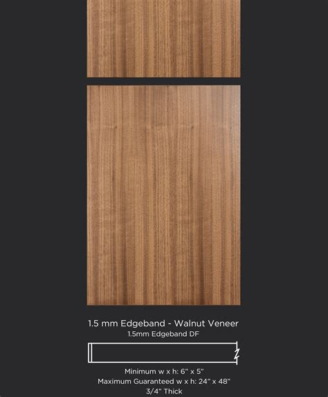 Walnut Cabinet Doors 1 5 Mm Edgeband Walnut Veneer Taylorcraft Cabinet Door Company