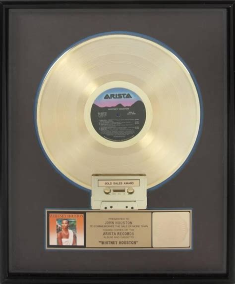 Records Houston Houston Quot Gold Quot Record Award Current Price 550