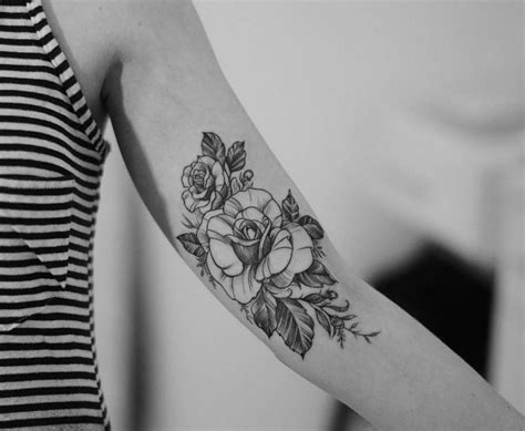inner arm rose tattoo inner arm pinteres