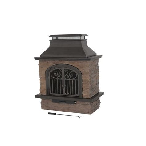 lowes outdoor fireplace 299 33