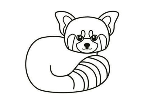 red panda coloring page kids pinterest colour book