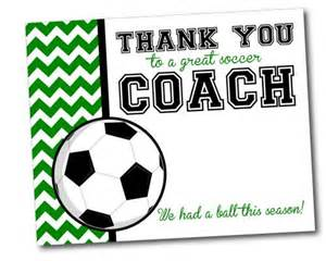 team thank you card for soccer coach instant by khudd