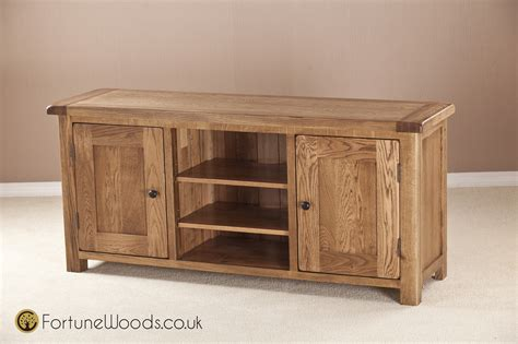 Sideboards And Display Cabinets by Large Oak Tv Unit With Wooden Doors