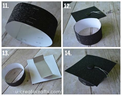 How To Make A Graduation Hat Out Of Paper - graduation cap headband tutorial u create
