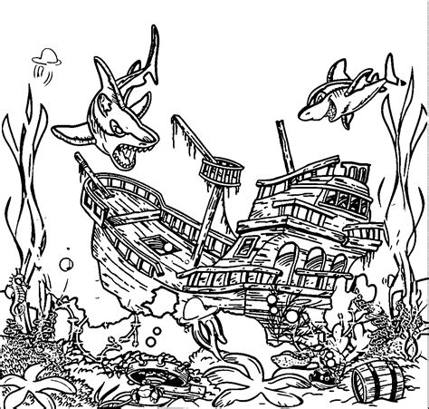 underwater sea coloring pages underwater coloring pages coloring home