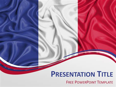France Flag Powerpoint Template Presentationgo Com Themed Powerpoint Template Free