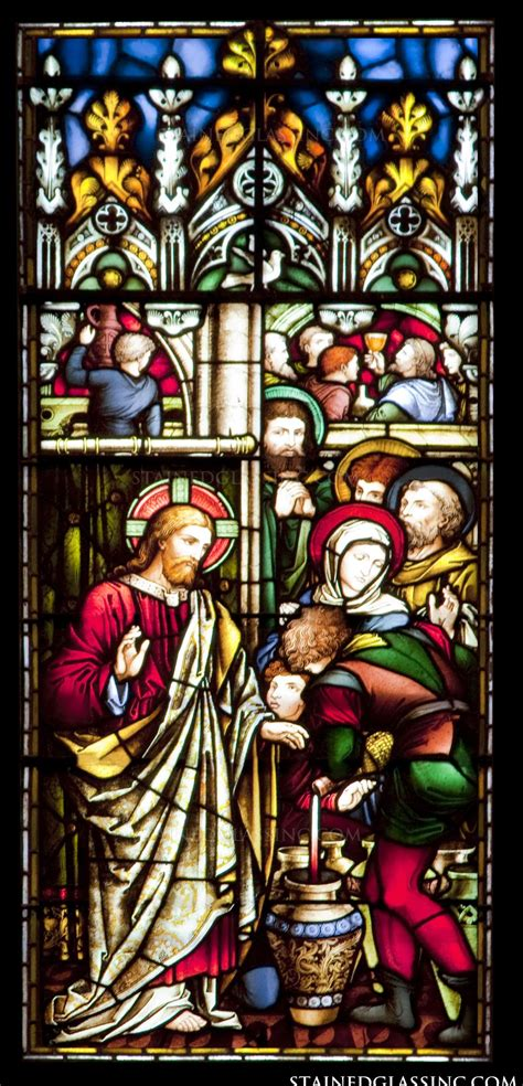 Wedding Feast Cana by Quot Wedding Feast At Cana Quot Religious Stained Glass Window