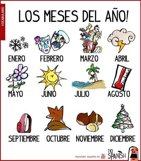 imagenes en ingles de los meses del año 111 best images about dias meses estaciones y tiempo on