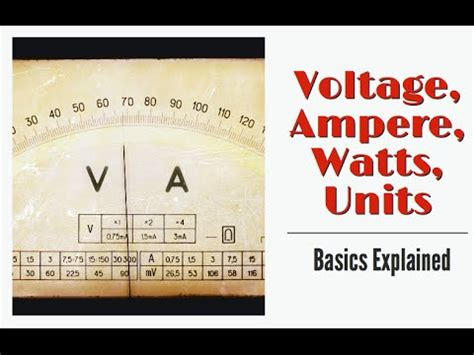 understand voltage ampere watts and unit of electricity