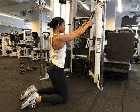 how to do cable crunches popsugar fitness australia