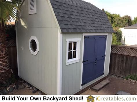 10x12 Gambrel Shed by 10x12 Barn Shed Plans Gambrel Shed Plans