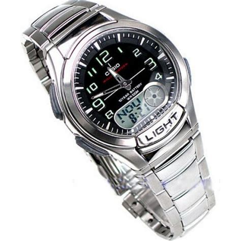 Casio Combination Aq 180wd 1bvdf casio s combination stainless steel aq 180wd 1bves brand new sustuu