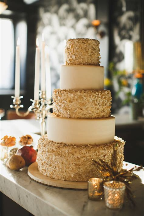 Golden Wedding by Wedding Cakes With Gold Accents Spark And Shine Your Day